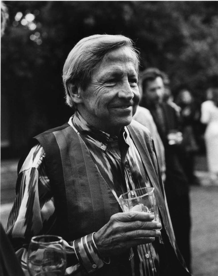 Rauschenberg at his seventieth birthday party, Los Angeles, October 1995