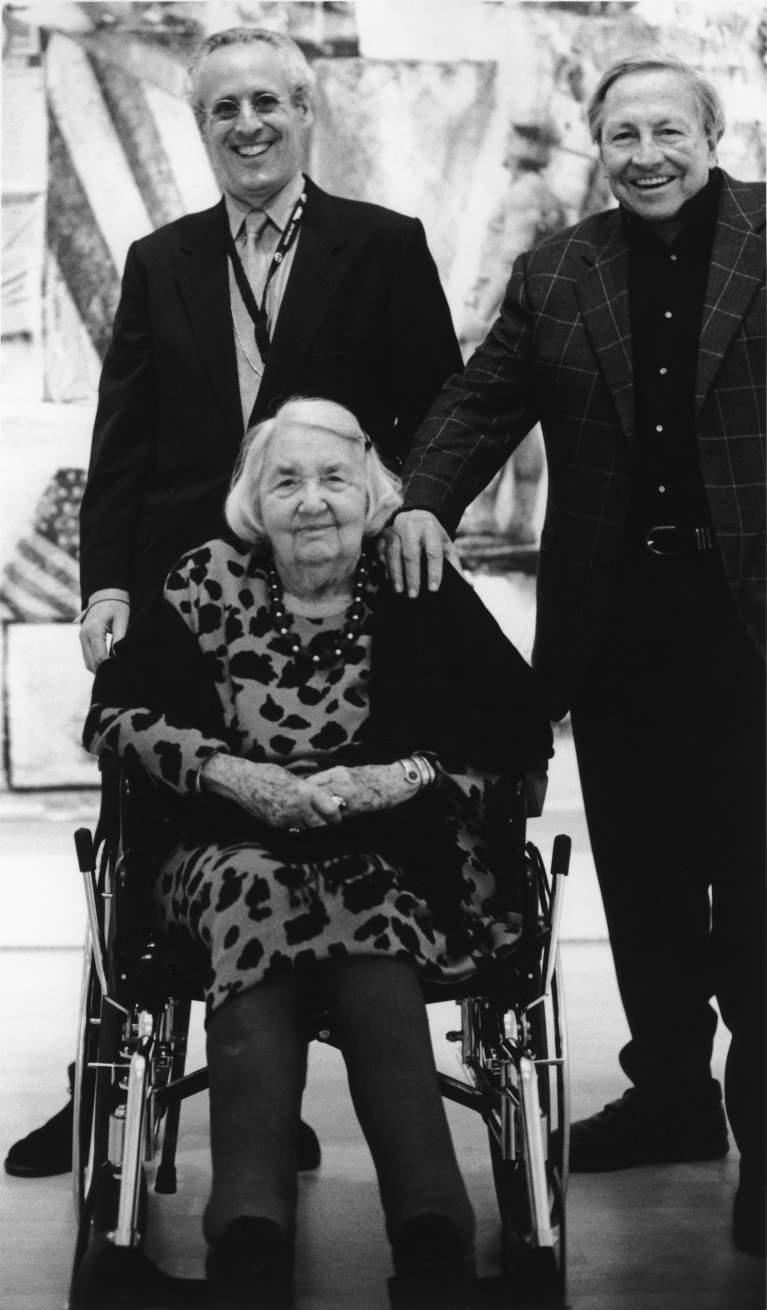 Robert Rauschenberg with Phyllis Wattis, 1999