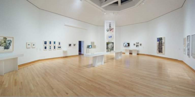view of an exhibition in a gallery