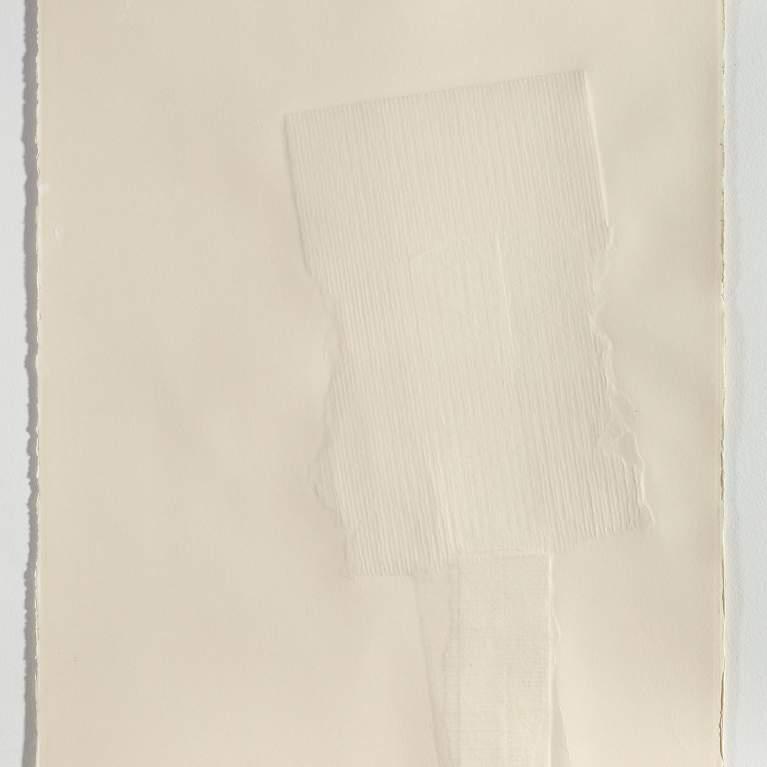 Robert Rauschenberg white paper artwork