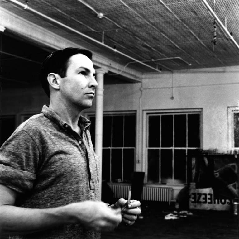 Artist as Activist - Black and White Photo of Robert Rauschenberg