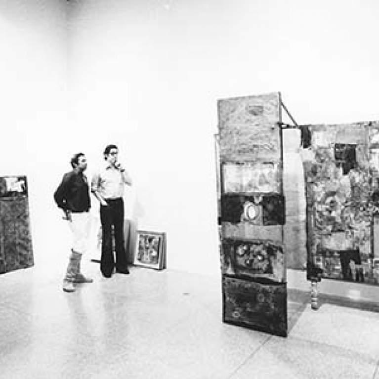 Rauschenberg and Walter Hopps 1976